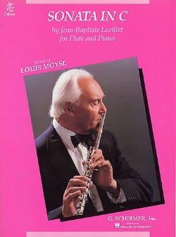 Sonata in C - Flute piano - LOEILLET - Partition - laflutedepan.com