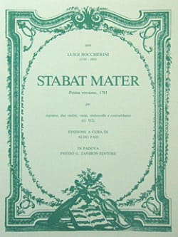 BOCCHERINI - Stabat Mater - Partitura - Partition - di-arezzo.fr