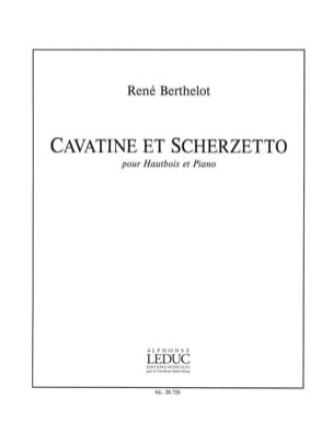 René Berthelot - Cavatine et Scherzetto - Partition - di-arezzo.fr