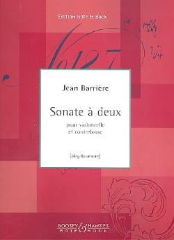 Jean Barrière - Sonate à deux - Partition - di-arezzo.fr