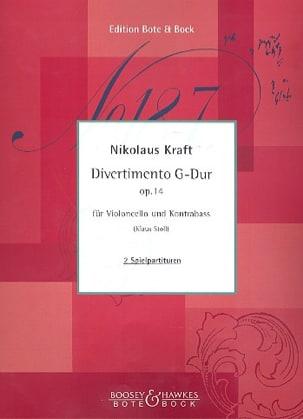 Nikolaus Kraft - Divertimento en sol majeur op. 14 - Partition - di-arezzo.fr
