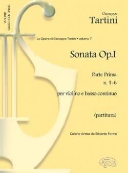 Giuseppe Tartini - Sonate op. 1 - Parte prima - Partition - di-arezzo.fr