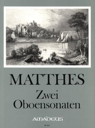 Carl Ludwig Matthes - 2 Oboensonaten - Sheet Music - di-arezzo.com