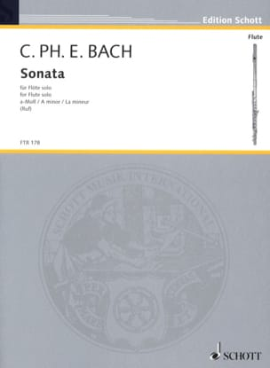 Carl Philipp Emanuel Bach - Sonata a-moll - Solo flute - Sheet Music - di-arezzo.co.uk