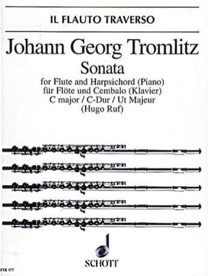 Johann Georg Tromlitz - Sonate C-Dur – Flöte und Cembalo (Klavier) - Partition - di-arezzo.fr
