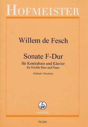 Willem de Fesch - Sonata F-Dur - Kontrabass - Sheet Music - di-arezzo.co.uk