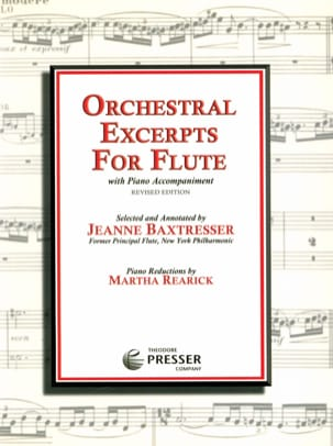 Jeanne Baxtresser - Orchestral excerpts for flute - Partition - di-arezzo.fr