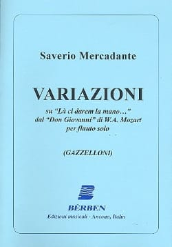 Saverio Mercadante - Variazioni Su La Ci Darem la Mano - Partition - di-arezzo.fr