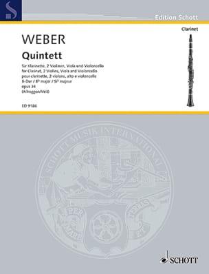 Quintett B-Dur op. 34 -Klarinette Streichquartett - laflutedepan.com