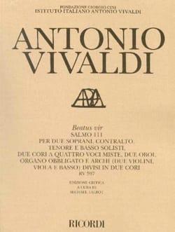 Beatus Vir Salmo 111 RV 597 - Partitur - VIVALDI - laflutedepan.com