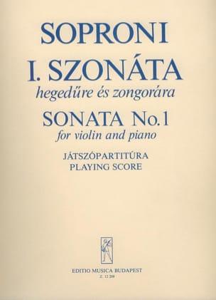 Sonate n° 1 - Jozsef Soproni - Partition - Violon - laflutedepan.com