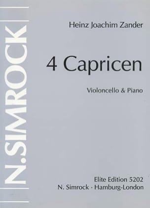 Heinz Joachim Zander - 4 Caprices - Partition - di-arezzo.fr