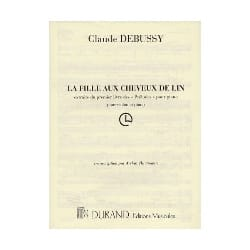 DEBUSSY - La fille aux cheveux de lin - Violon orgue - Partition - di-arezzo.fr