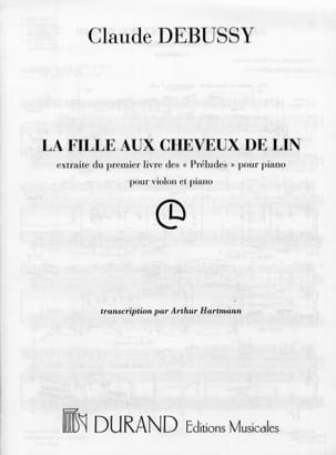 DEBUSSY - The girl with linen hair - Hartmann - Sheet Music - di-arezzo.com