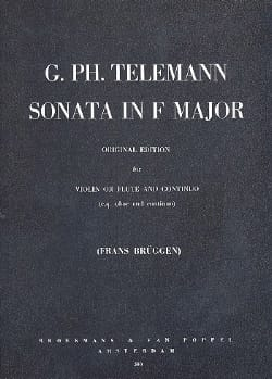 Sonate in F major - TELEMANN - Partition - Violon - laflutedepan.com