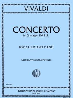VIVALDI - Concerto in G major, RV 413 - Sheet Music - di-arezzo.co.uk