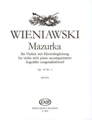 WIENIAWSKI - Mazurka op. 19 n ° 2 - Sheet Music - di-arezzo.co.uk