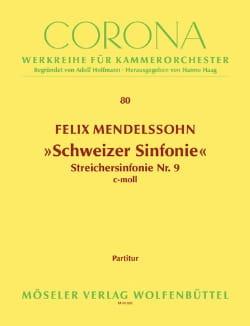 Bartholdy Felix Mendelssohn - Schweizer Sinfonie c-moll –Partitur + Stimmen - Partition - di-arezzo.fr