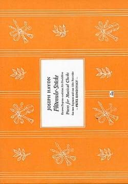 Joseph Haydn - Flötenuhr-Stücke - Partition - di-arezzo.fr