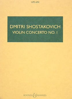 CHOSTAKOVITCH - Violin Concerto No. 1 op. 77 - Partitur - Sheet Music - di-arezzo.com