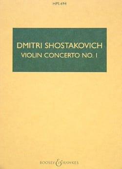 CHOSTAKOVITCH - Violin Concerto No. 1 op. 77 - Partitur - Sheet Music - di-arezzo.co.uk