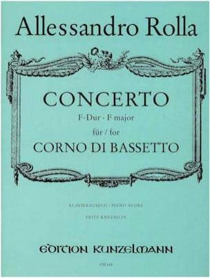 Alessandro Rolla - Concerto F-Dur - Corno di bassetto Klavier - Partition - di-arezzo.fr