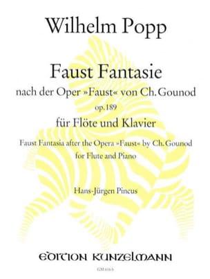 Wilhelm Popp - Faust Fantasie op. 189 – Flöte Klavier - Partition - di-arezzo.fr