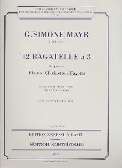 Giovanni Simone Mayr - 12 Bagatelle a 3 - Flauto clarinetto fagotto - Stimmen - Sheet Music - di-arezzo.com