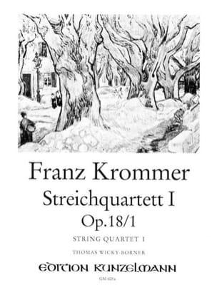 Franz Krommer - Streichquartett op. 18 n° 1 –Stimmen - Partition - di-arezzo.fr