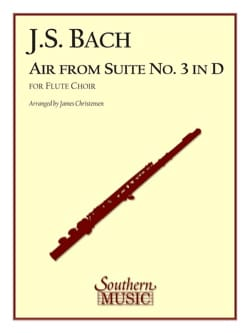 BACH - Air from the Suite in D - Flute choir with String Bass - Partition - di-arezzo.fr