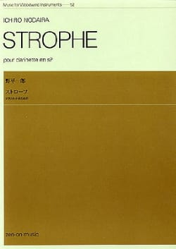 Ichiro Nodaira - Strophe - Partition - di-arezzo.fr