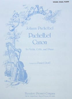 Johann Pachelbel - Canon - Violon/Cello/Piano - Partition - di-arezzo.fr