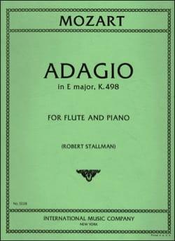 MOZART - Adagio in E major KV 261 - Flauto per pianoforte - Partitura - di-arezzo.it