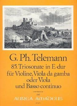 TELEMANN - Triosonate Nr. 85 in E-Dur - Violin Viola Bc - Sheet Music - di-arezzo.com