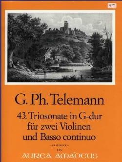 Triosonate Nr. 43 G-Dur –2 Violinen Bc - laflutedepan.com