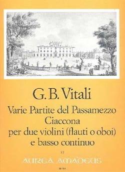 Tommaso Antonio Vitali - Varie Partite del Passamezzo op. 7/1 - Ciaccona op. 7/3 - Sheet Music - di-arezzo.com