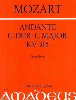 Andante C-Dur KV 315 - Flöte Klavier - MOZART - laflutedepan.com