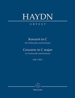 HAYDN - Konzert In C For Violoncello Und Orchester Hob. VII B: 1 - Sheet Music - di-arezzo.co.uk