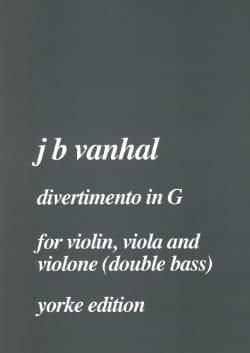 Johann Baptist Vanhal - Divertimento in G -Violin viola violone double bass - Score + parts - Partition - di-arezzo.fr