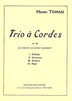 Trio à cordes en ut TOMASI Partition Trios - laflutedepan
