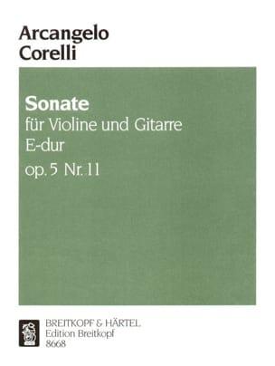 CORELLI - Sonate op. 5 n° 11 - Violine Gitarre - Partition - di-arezzo.fr