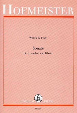Sonate - Kontrabass Willem de Fesch Partition laflutedepan