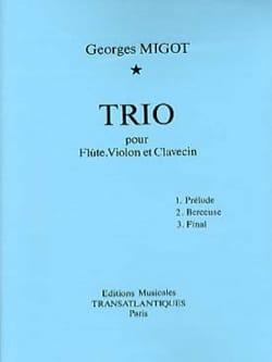 Trio - pour flûte, violon et clavecin Georges Migot laflutedepan