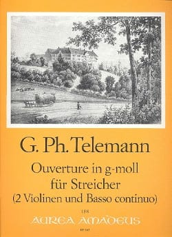 TELEMANN - Opening in g-moll for Streicher - 2 Violinen u. Bc - Sheet Music - di-arezzo.com