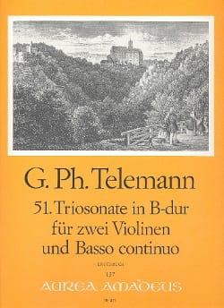 Georg Philipp Telemann - Triosonate Nr. 51 B-Dur –2 Violinen Bc - Partition - di-arezzo.fr