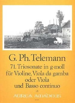 Triosonate Nr. 71 in g-moll -Violine Viola Bc TELEMANN laflutedepan