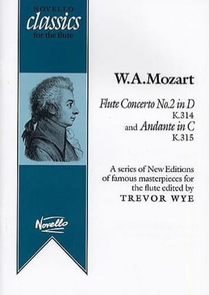 MOZART - Concerto n° 2 for flute in D, KV 314 + Andante in C, KV 315 - Partition - di-arezzo.fr