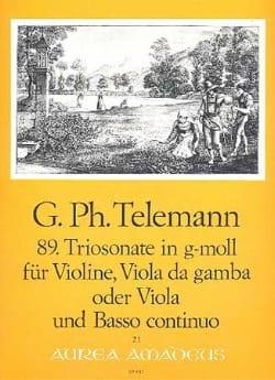 Triosonate Nr. 89 in g-moll -Violine Viola Bc - laflutedepan.com
