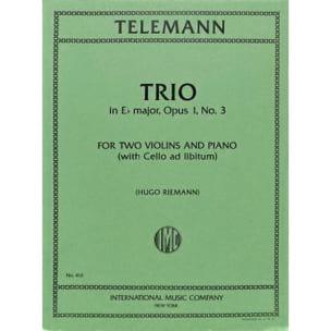 Georg Philipp Telemann - Trio E flat major op. 1 n° 3 - Partition - di-arezzo.fr