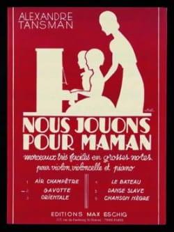Alexandre Tansman - Nous jouons pour maman - n° 2 : Gavotte - Partition - di-arezzo.fr